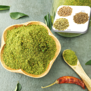 jeera and coriander curry leaves powder